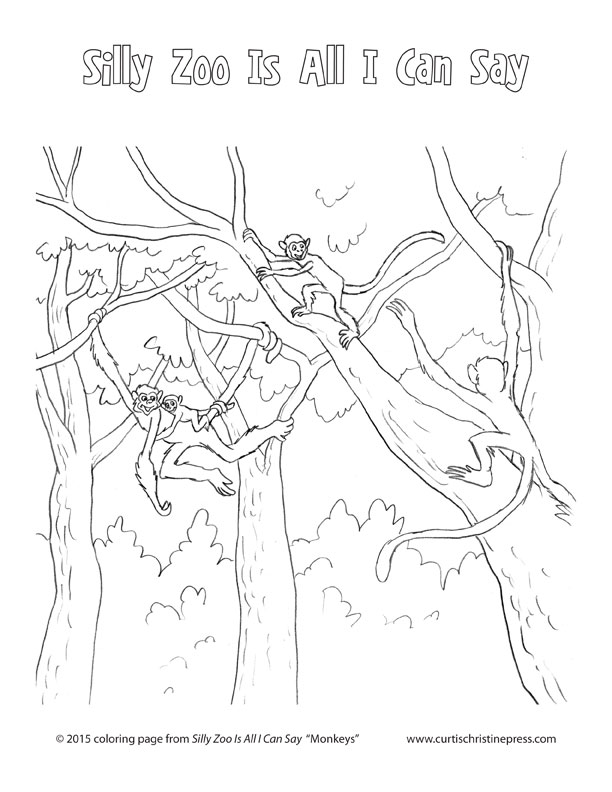 Monkeys-coloring-sheet