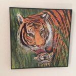 Tigers Bath time wall